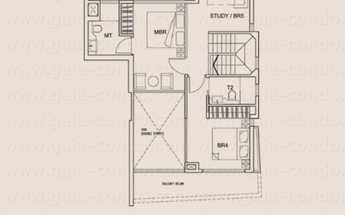 Jalan Dusun Gaia Condominium Type C1 (15th Storey) - Duplex Unit (4-Bedroom + 1 Study)
