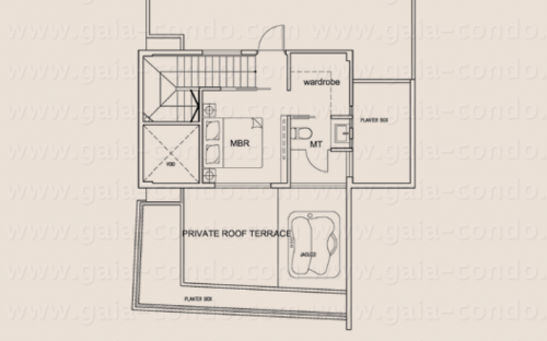 Jalan Dusun Gaia Condominium Type P (Attic) - Penthouse (3-Bedroom)