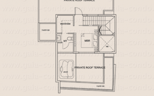 Jalan Dusun Gaia Condominium Type P1 (Attic) - Penthouse (3-Bedroom)